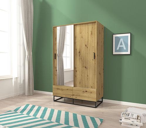 Enjoy Sliding 2 Door Wardrobe 130 cm width