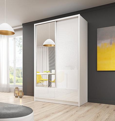 ARIA I Sliding 2 Door Wardrobe 130cm - 150cm width