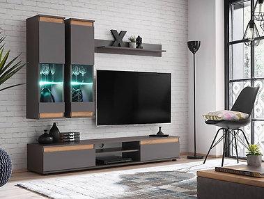 Modo Graphite Living Room Set