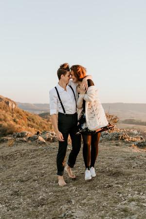 Couple Lovestory Outdoor Adventure Natur