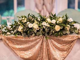 Simply Elegant - Top table arrangement