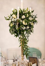 Tall Fresh Centrepiece candelabra - Simply Elegant