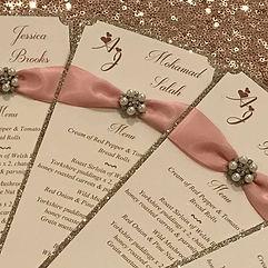 Wedding Menu Cards - Simply Elegant