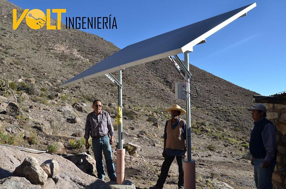 Energia solar en lugares en donde no hay electricidad