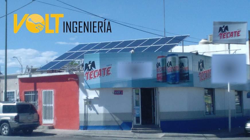 Energía solar en tiendas