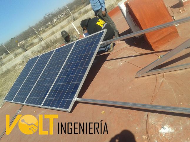 estructura para equipo solar