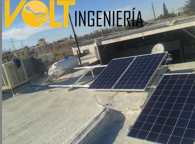 paneles solares en expendio de cerveza