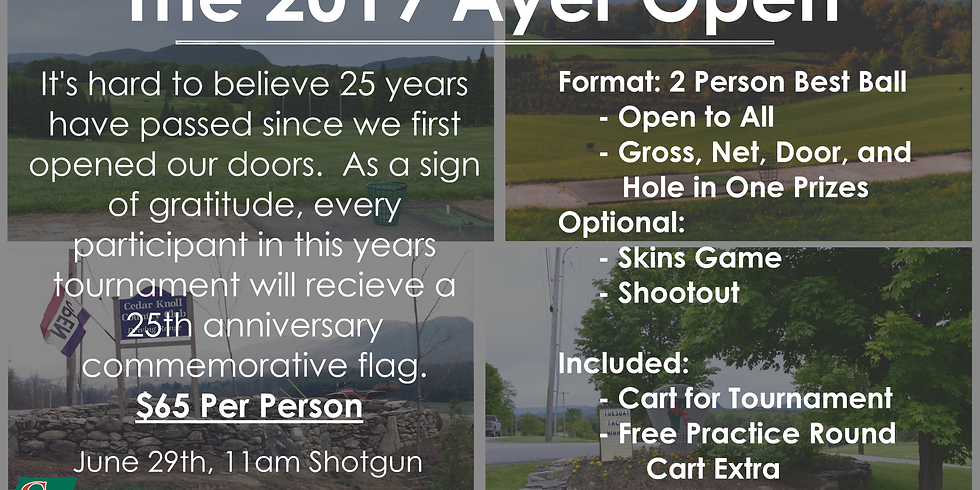 25th Annual Ayer Open