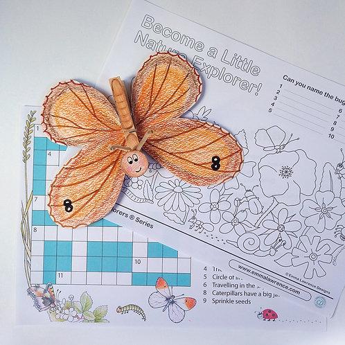 Butterflies book activity pack