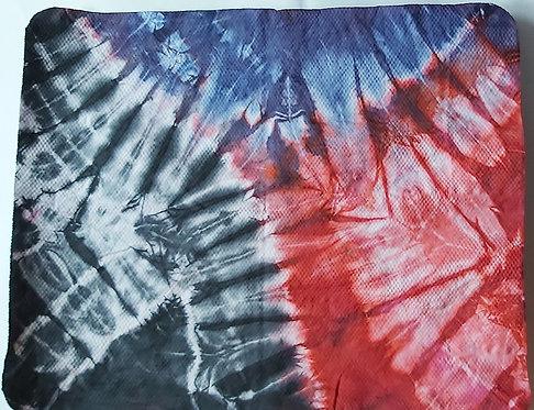 SMALL SHAMMY - RED, BLUE & BLACK 12 TIE DYE