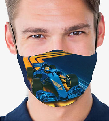 F1 CAR REUSABLE & WASHABLE FACE MASKS + WASHABLE FILTER
