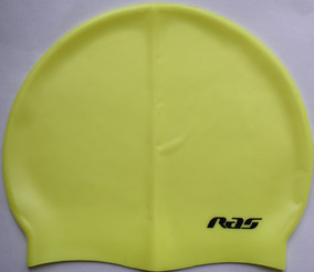 silicone swimming cap fluorescent yellow