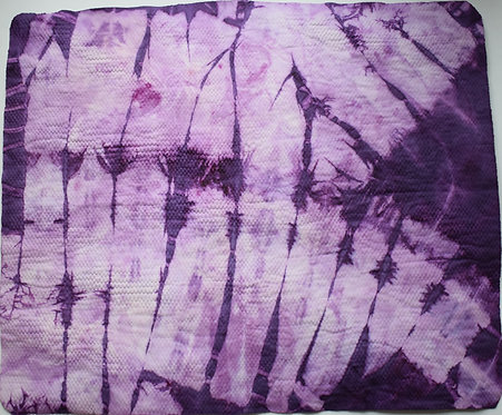 SMALL SHAMMY - PURPLE AND WHITE BUTTERFLY WINGS TIE DYE