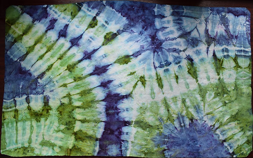 LARGE SHAMMY - BUTTERFLY WINGS BLUE AND GREEN