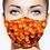 Thumbnail: ORANGE GLOW DESIGNER PRINT REUSABLE FACE MASKS + WASHABLE FILTER
