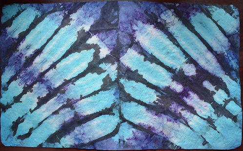 LARGE SHAMMY - BUTTERFLY WINGS SYMMETRICAL BLUES