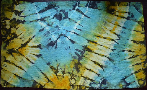 LARGE SHAMMY - BLUE AND YELLOW BUTTERFLY WING PRINT