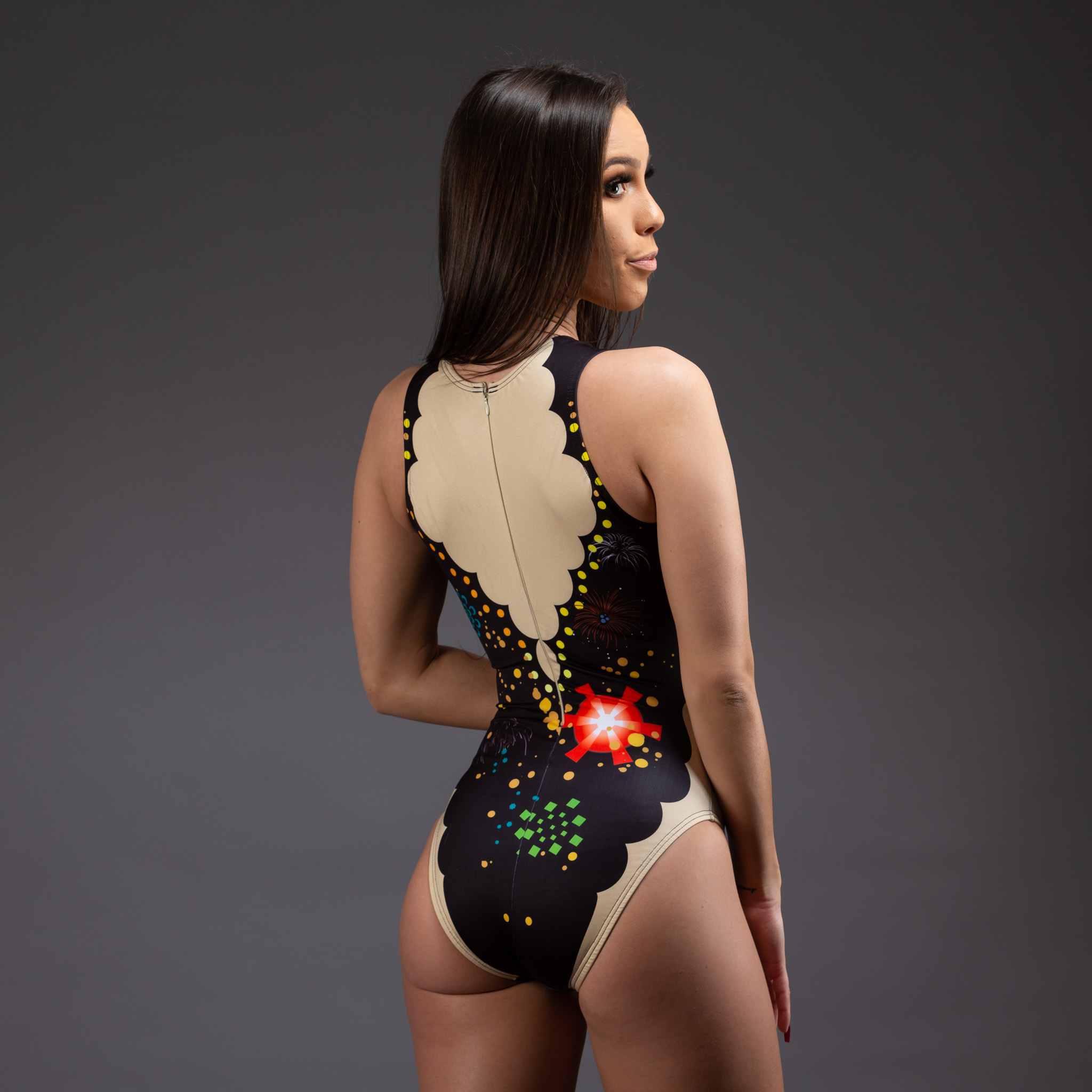 Fireworks synchro suit - artistic swimmi