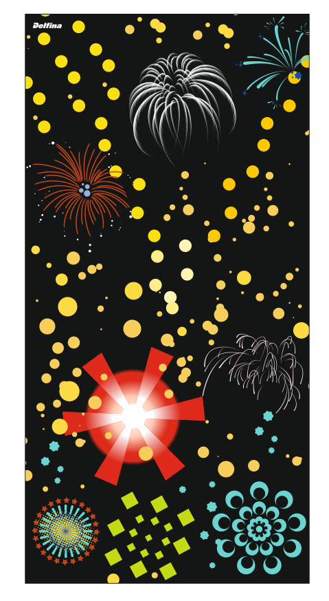 Fireworks quick dry sports towel