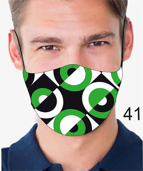 CONCENTRIC CIRCLES REUSABLE & WASHABLE FACE MASKS + WASHABLE FILTER