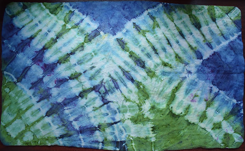 LARGE SHAMMY - BUTTERFLY WINGS GREEN AND BLUE