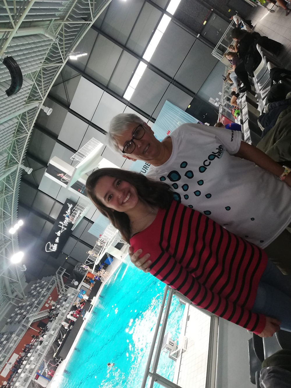 Mary-Ann van Grinsven is a customer of Acquawear swimwear UK shop and we provided her with synchronised swimming competition swimsuits for solo and duet