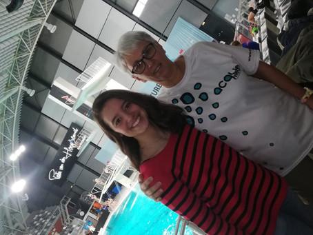 Pre-teen synchro swimmer sensation