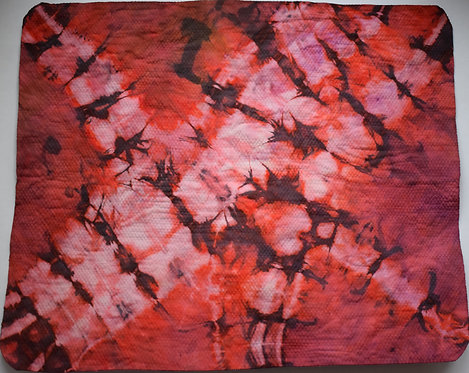 SMALL SHAMMY - SHADES OF RED BUTTERFLY WINGS TIE DYE PRINT