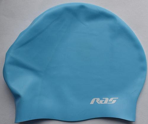 RAS LONG HAIR SILICONE SWIMMING CAP BLUE