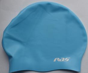 Long Hair silicone swimming cap Blue