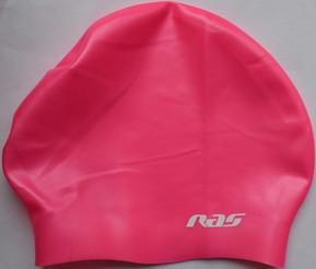 Long Hair silicone swimming cap Pink