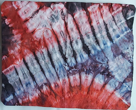 SMALL SHAMMY - RED, BLUE & BLACK 2 TIE DYE