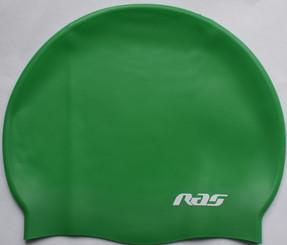 silicone swimming cap green