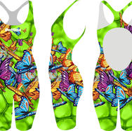 Butterfly Green Olympic Kneesuit
