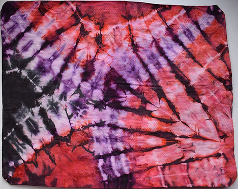 SMALL SHAMMY - RED, PURPLE AND BLACK TIE DYE