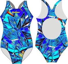 Delfina Blue Triangles SF81 swimsuit