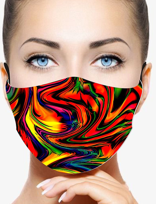 WARPED RAINBOW REUSABLE & WASHABLE FACE MASKS + WASHABLE FILTER