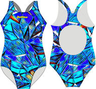 Blue Triangles XBack SF81 Swimsuits