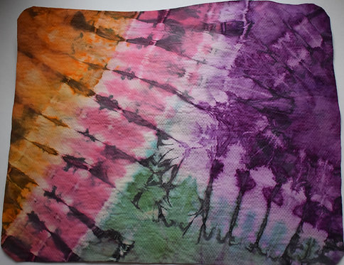 SMALL SHAMMY - PINK PURPLE AND GREEN AND ORANGE TIE DYE
