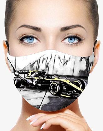 RENAULT F1 CAR V1 REUSABLE & WASHABLE FACE MASK + FILTER
