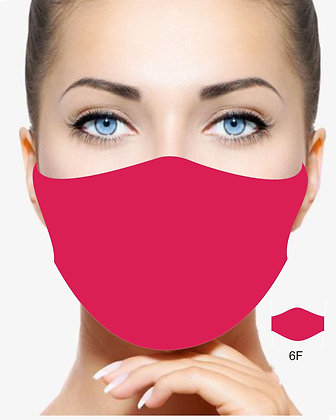 BRIGHT RED REUSABLE & WASHABLE FACE MASK TRIPLE LAYER