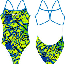 Electric swimsuit for curvy girl Delfina