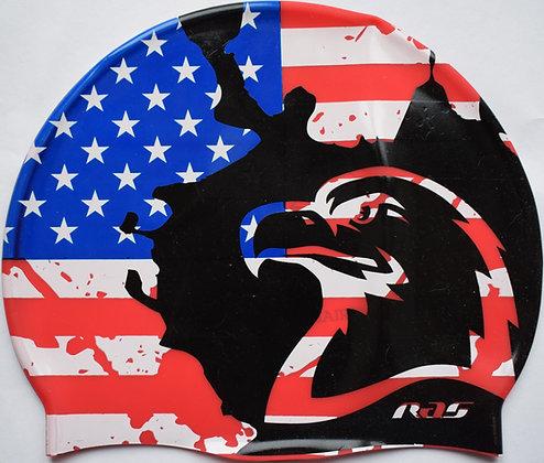 RAS USA SUEDE SILICONE SWIMMING CAP