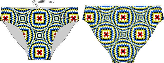Green Optical illusion Swim Brief