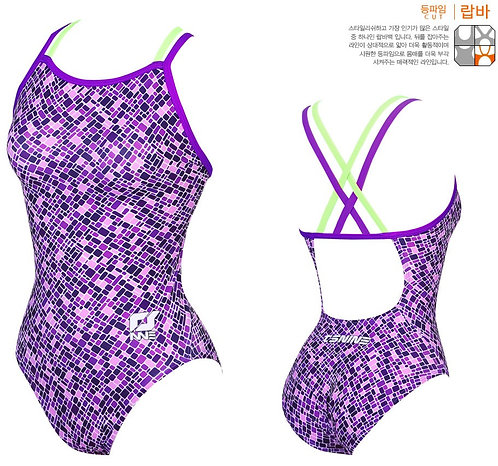 TSNINE EPLS31 BLUE MOSAIC DOUBLE CROSS BACK THIN STRAPS PURPLE