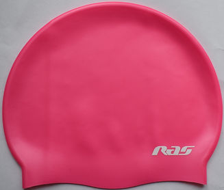 silicone swimming cap pink