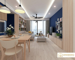 Project Palette, living design by Gridwerkz Interior.