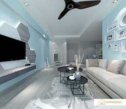 Project Yung Sheng, living design by Gridwerkz Interior.