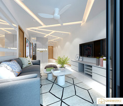 Project Trilinq, living design by Gridwerkz Interior.