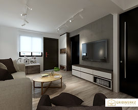 Project living design by Gridwerkz Interior, lowest price in singapore.